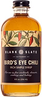 Bird's Eye Chili Rich Simple Syrup | by Blank Slate Kitchen | 8 ounce | Cocktail Mixer or Dessert Topping