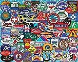 White Mountain Puzzles Ski Badges - 1000 Piece Jigsaw Puzzle