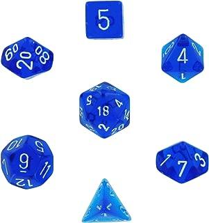 Chessex Polyhedral 7-Die Translucent Dice Set - Blue