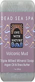 One With Nature Soap Bar Volcanic Mud, 7 oz