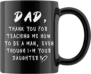 Pcdvn Dad Mug, Father's Day Birthday Gift From Daughter Funny Coffee Tea Cup-11oZ-Black
