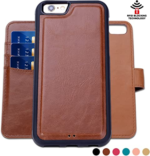 SHANSHUI Wallet Case Compatible with iPhone 5 5s se (2016), Detachable 2 in 1 Leather with 3 RFID Card Holders and 1 ...