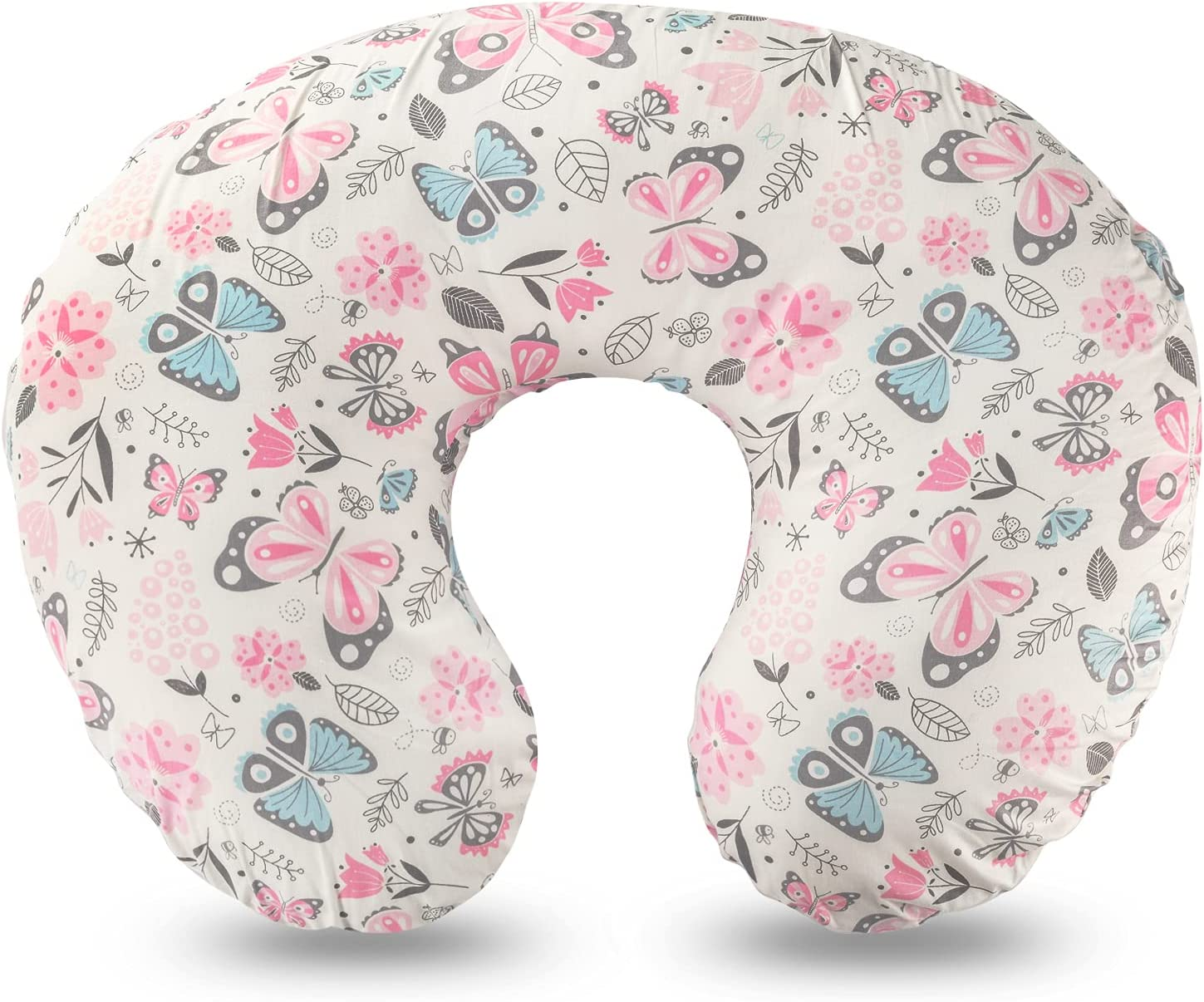 Nursing Pillow , Breastfeeding & Bottle Feeding Baby Support Pillow for Mom , Newborn Infant Snug Cotton Pillow Fits 0-12 Months Boys and Girls, Butterfly
