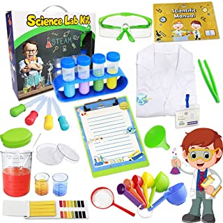 UNGLINGA Kids Science Kit Lab Coat Set First DIY Chemistry Experiment Activity Exploration STEM Toys, A Great Educational ...