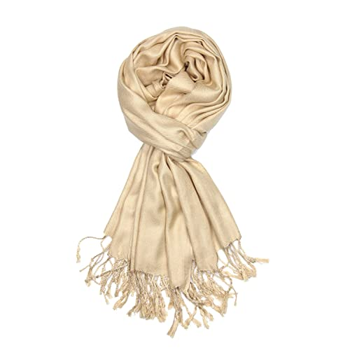 af19c658610 Achillea Large Soft Silky Pashmina Shawl Wrap Scarf in Solid Colors