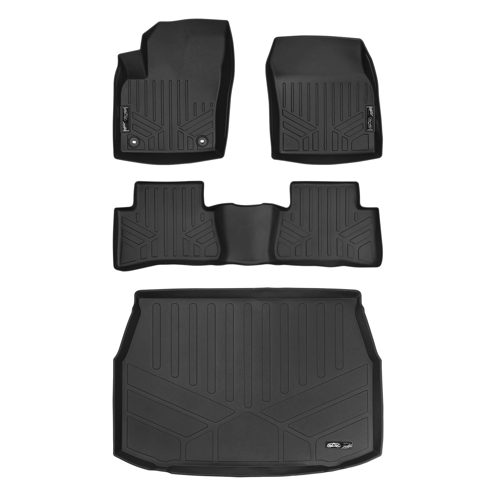 Gray Motor Trend BC210-B2 Grey Performance Plus Rubber Car Floor Mats /& Cargo Weather Liners 5pc Set