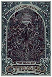 Horror Cthulhu Art Lovecraft Canvas Poster Wall Art Decor Print Picture Paintings for Living Room Bedroom Decoration DONGDA Poster 12×18inch(30×45cm) Unframe: