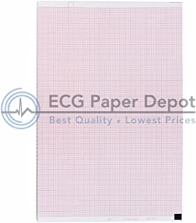 ECG Paper 210MM X 140MM X 350 SHEETS (Works for NIHON KOHDEN PA9100Z,9130K) (10)