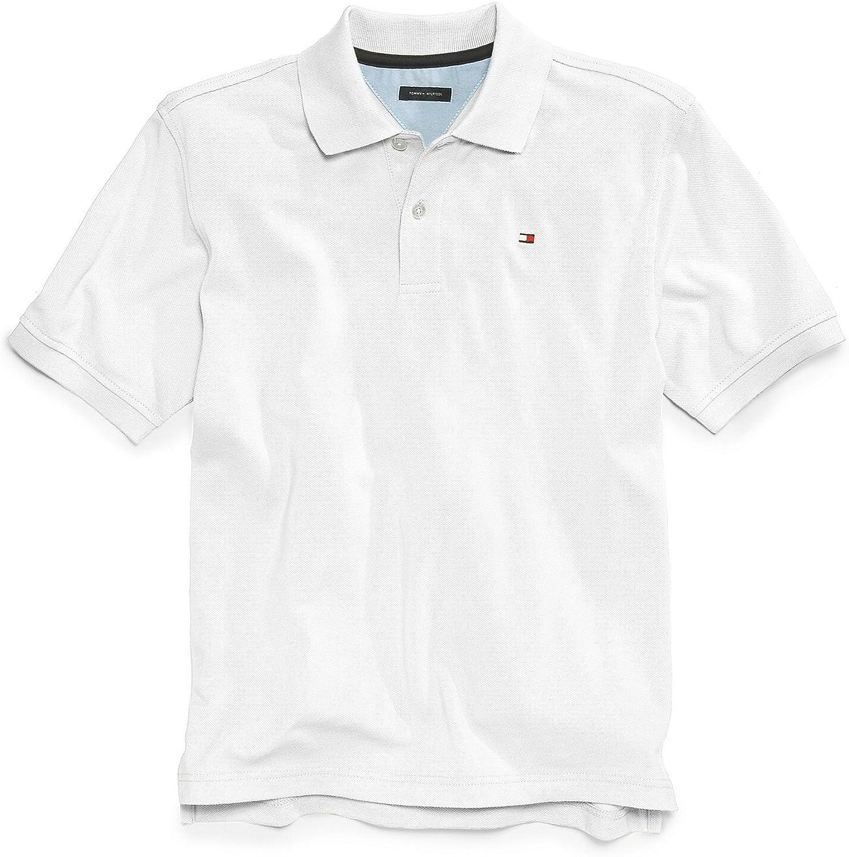 Tommy Hilfiger Boy Short Sleeve Polo Shirt 7 White
