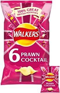 Walkers Crisps - Prawn Cocktail (6x25g)