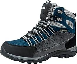 riemot Botas de Senderismo y Campo para Mujer, Zapatillas Altas de Trekking Zapatos de Montaña Escalada Aire Libre Calzado Impermeable Ligero Antideslizantes Sneakers