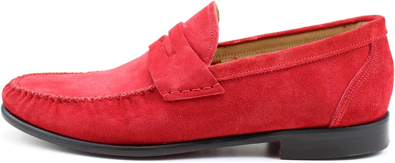 Giorgio Giorgio Giorgio Rea män Classic skor Elegant röd Slipper Mocasins Handgjorda skor i Italien Genuine Calfskin Real läder Oxfords Richelieu Brogue Gentlemän  snabb leverans