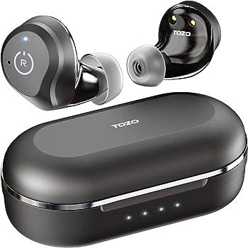 TOZO NC9 完全ワイヤレスイヤホンBluetoothイヤホン Bluetooth 5.0 ANCイヤホン ワイヤレス ノイズキャンセリング機能搭載 ワイヤレス イヤホン タッチコントロール TWS高音質 イヤフォン カナル型イヤホン 充電ケース付き マイク内蔵 ブラック