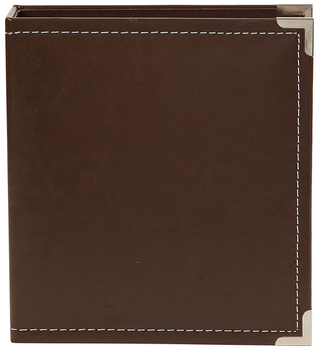 Simple Stories Faux Leather Binder, 6 by 8-Inch, Brown