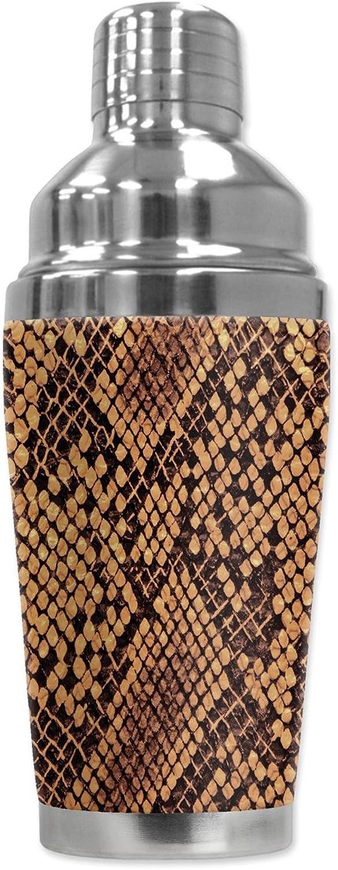 Mugzie 879-sha Schlange Haut  Cocktail Shaker mit isolierter Neoprenanzug, 16 oz, schwarz B009OVLDWU