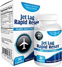 Jet Lag Rapid-Reset: Travel Relief Remedy Supplement Pills - Prevention Complex - Natural Jet Lag Supplements - Formula - ...