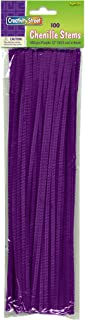 Creativity Street Chenille Stems/Pipe Cleaners 12 Inch x 4mm 100-Piece, Purple