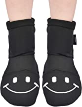 iGuerburn Cold Therapy Socks for Swollen Ankles Arch Heels Foot Pain Relief Suffer From Plantar Fasciitis Tendinitis Neuropathy - 2 Cooling Socks + 6 Gel Ice Packs + 2 Hook and Loop Fastener Strap (M)