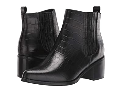 Blondo Elvina Waterproof Bootie (Black Croco) Women