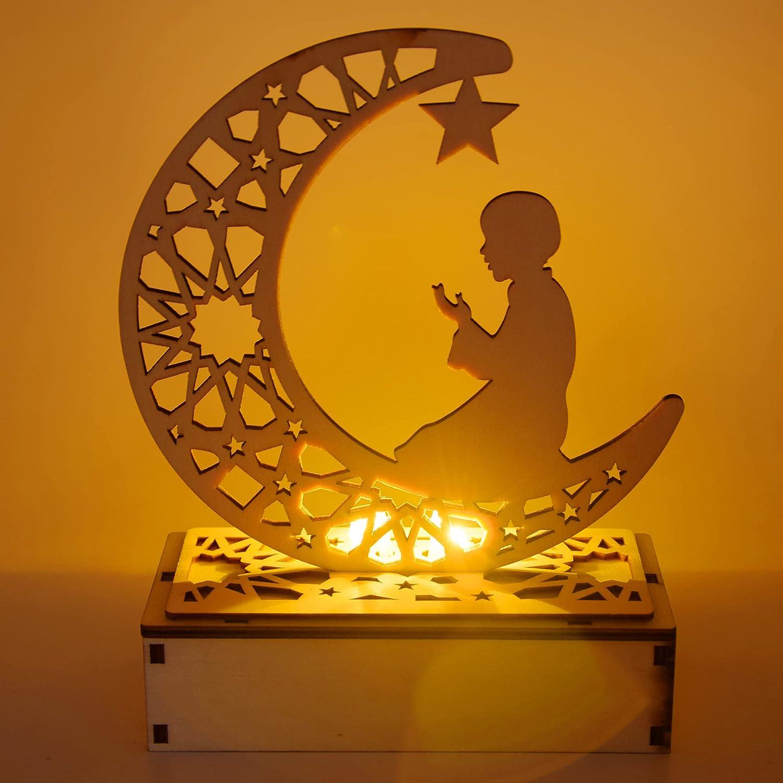 New arrival Bunifa Eid Max 57% OFF Crafts Night Light Mubarak Ramadan Decorations Lamp