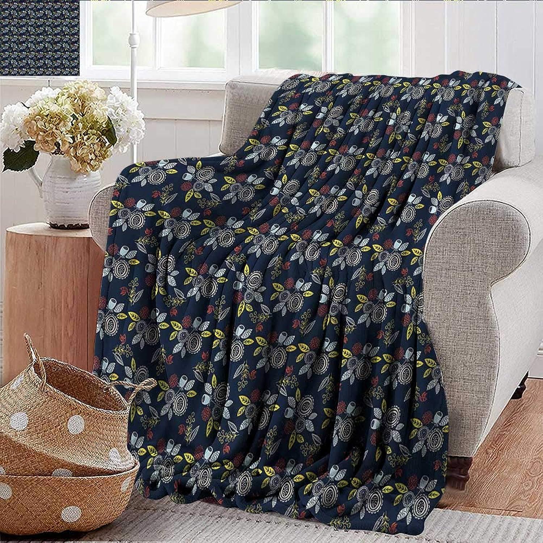 Xaviera Doherty Weighted Blanket for Kids Garden Art,Bouquet of Flowers Birds Soft Summer Cooling Lightweight Bed Blanket 50 x60