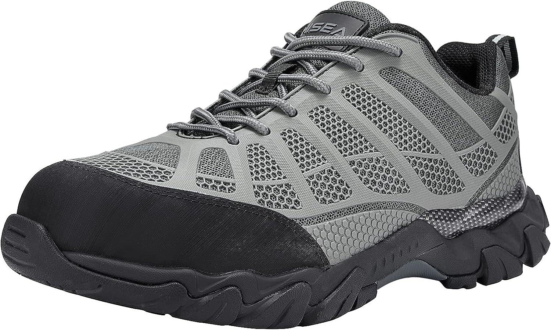 スーパーセール期間限定 HISEA Steel Toe Shoes 人気急上昇 for Men Breathable an Indestructible