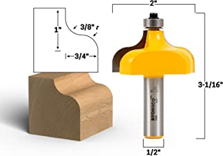 Yonico 13150 3/8-Inch Radius Ogee Edge Forming Router Bit 1/2-Inch Shank