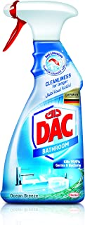 DAC Bathroom Cleaner Trigger Spray - Ocean Breeze (500 ml), 99.9% Germs and Bacteria Removal, with Limescale Repel Technol...