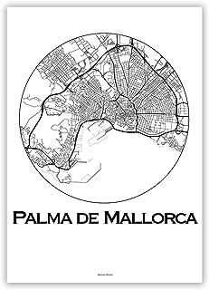Cartel Palma de Mallorca Islas Baleares Minimalista Mapa - City Map, decoración, regalo