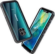 Mishcdea Huawei Mate 20 Pro Case Waterproof Shockproof Snowproof Dirtproof Scratch Resistant Full Body Protective Cover for Huawei Mate 20 Pro (Black)