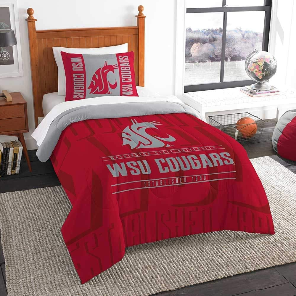Officially Licensed NCAA Modern Take Full//Queen Comforter and 2 Sham Set