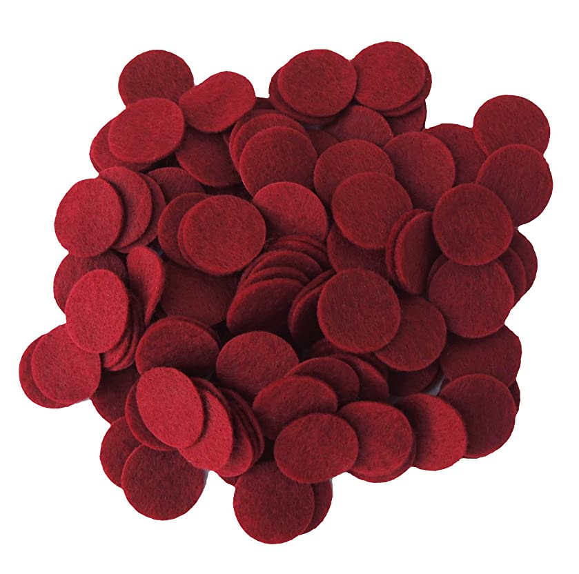 Playfully Ever After 3/4 Inch Cardinal Red 150pc Felt Circles