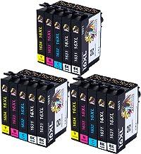 AUBEN 16XL para Epson 16 XL Cartuchos de Tinta Compatibles con Epson Workforce WF-2630 WF-2750 WF-2540 WF-2530 WF-2510 WF-2520 WF-2650 WF-2010 WF-2660 WF-2760 (6 Negro, 3 Cian, 3 Magenta, 3 Amarillo)