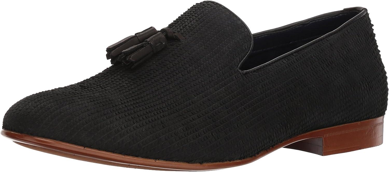 ALDO Men's Cadilia Loafer, Black Leather, 13 D US