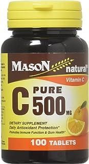 Mason Vitamins C Pure Ascorbic Acid Tablets, 60 Count