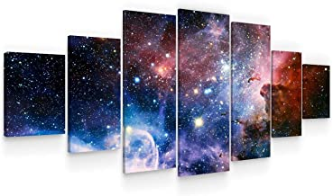 Startonight Huge Canvas Wall Art - Awesome Space ll - Home Decor - Dual View Surprise Artwork Modern Framed Wall Art Set o...