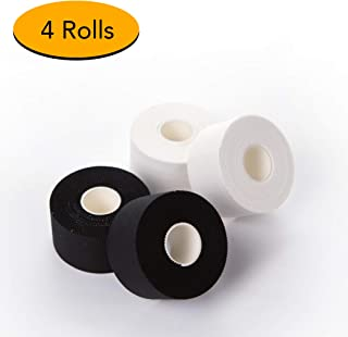 Hospora Athletic Tape 4 Rolls 1.5 Inch x 45 feet FDA Registered Super Sticky Glue and No Skin Residue Finger Joint Injury Sprain Swelling Sports Tape First Aid Adhesive Tape