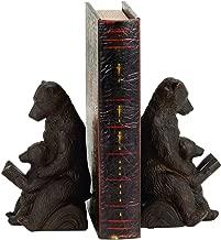Bellaa 25679 Bear Bookends Mom Cub Reading 7 inch