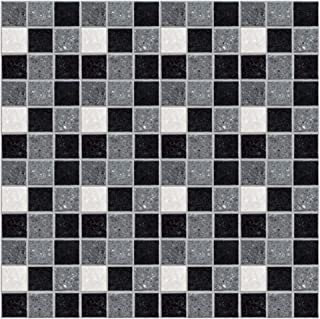 Kitchen-dream Papel Pintado Mosaico Papel Tapiz de Mosaico para baño Cocina Inodoro Pegatinas de Pared Autoadhesivas Fondo de Pantalla de PVC Impermeables a Prueba de Aceite 10 * 10cm*19pcs