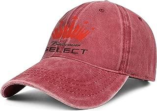 Unisex Cowboy Hat Budweiser-Select- Relaxed Strapback Cap Men's Women's Flat Baseball Hat