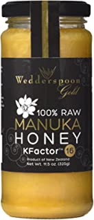 Wedderspoon 100% Raw Manuka Honey - KFactor 16 - 11.5 Ounces