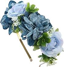 Women Bezel Flowers Head Girls Flower Crown Wreath Wedding Bridal Hair Accessories Fruit Floral Headband Headwear,5