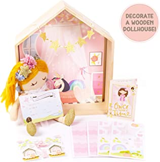 Story Magic Fairy Dream Doll House by Horizon Group USA, Plush Fairy Doll, Pretend Play Activity, Decorate Premium Wooden ...