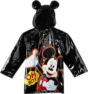 Disney Little Boys' Mickey Mouse Waterproof Outwear Hooded Rain Coat - Toddler