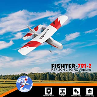Volantex RC Airplane Remote Control Airplane RTF RC Aircraft Plane Ready to Fly with 2.4GHz Control, Easy to Fly for Beginners in Indoor Outdoor, Best Gift for Children Teens (781-2)