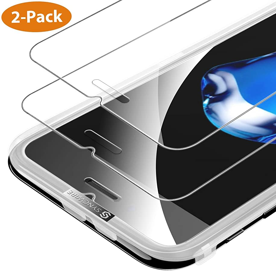 Syncwire SyncProof Screen Protector Compatible iPhone 8/7 / 6s / 6-2-Pack HD 9H Hardness Tempered Glass [Shatter-Proof, Bubble-Free, 3D-Touch, Easy-Install]