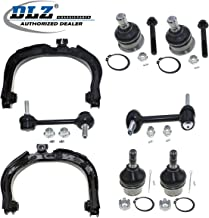 DLZ 8 Pcs Front Suspension Kit-Upper Lower Ball Joint Upper Control Arm Rear Sway Bar Link Compatible with Chevrolet Trailblazer 2002-2007