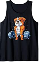 English Bulldog Weightlifting Funny Deadlift Men Fitness Gym Tank Top