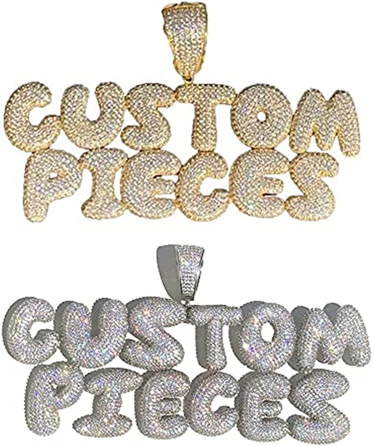 OFFer DOBLING Custom Bubble Letters Name Iced Ou Necklace Personalized Dallas Mall