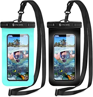 Syncwire Funda Impermeable Universal, 2 Unidades Bolsa para móvil estanca a Prueba de Agua IPX8 para iPhone 11 Pro XS MAX XR XS X 8 7 6 Plus se, Xiaomi Redmi Note 8, Galaxy S10+ S9 S8, Huawei P30 Pro